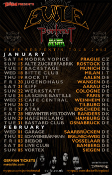 EVILE PORTRAIT tour NEWS 2011