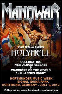 MANOWAR flyer LIVE 2012