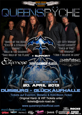 QUEENSRYCHE flyer NEWS 2013