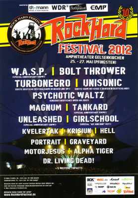 ROCK HARD FEST flyer NEWS 2012