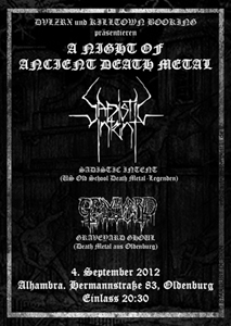 SADISTIC INTENT flyer NEWS 2012